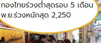 ราคาทองวันนี้ร่วง200 พ.ย.ร่วงหนัก 2,250